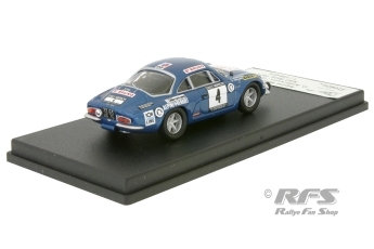Alpine Renault A110 - RAC Rally 1971<br />Ove Andersson / Geraint Phillips  -  # 4<br />1:43 - Trofeu RRuk23
