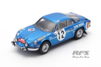 Alpine Renault A110 - Rallye Monte Carlo 1971Bernard Darniche / Claude Robertet  -  # 121:43 - Spark 6106