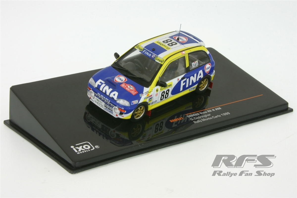 Subaru vivio rx-r cadringher monte carlo rally 1999 1:43 ixo rally-ram531