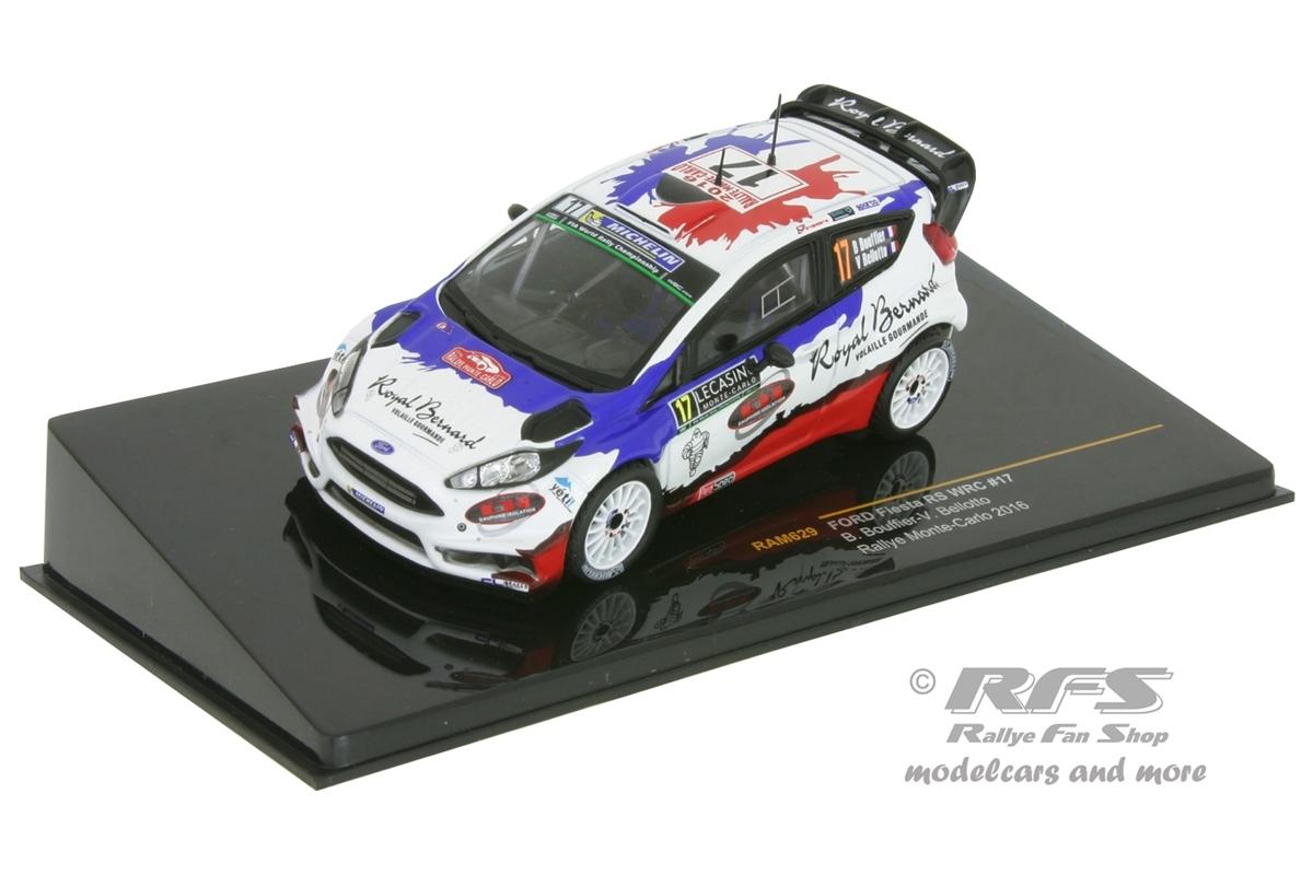 Ford Fiesta RS WRC - Rally Monte Carlo 2016Bryan Bouffier / Victor Bellotto  -  # 171:43 - IXO RAM 629