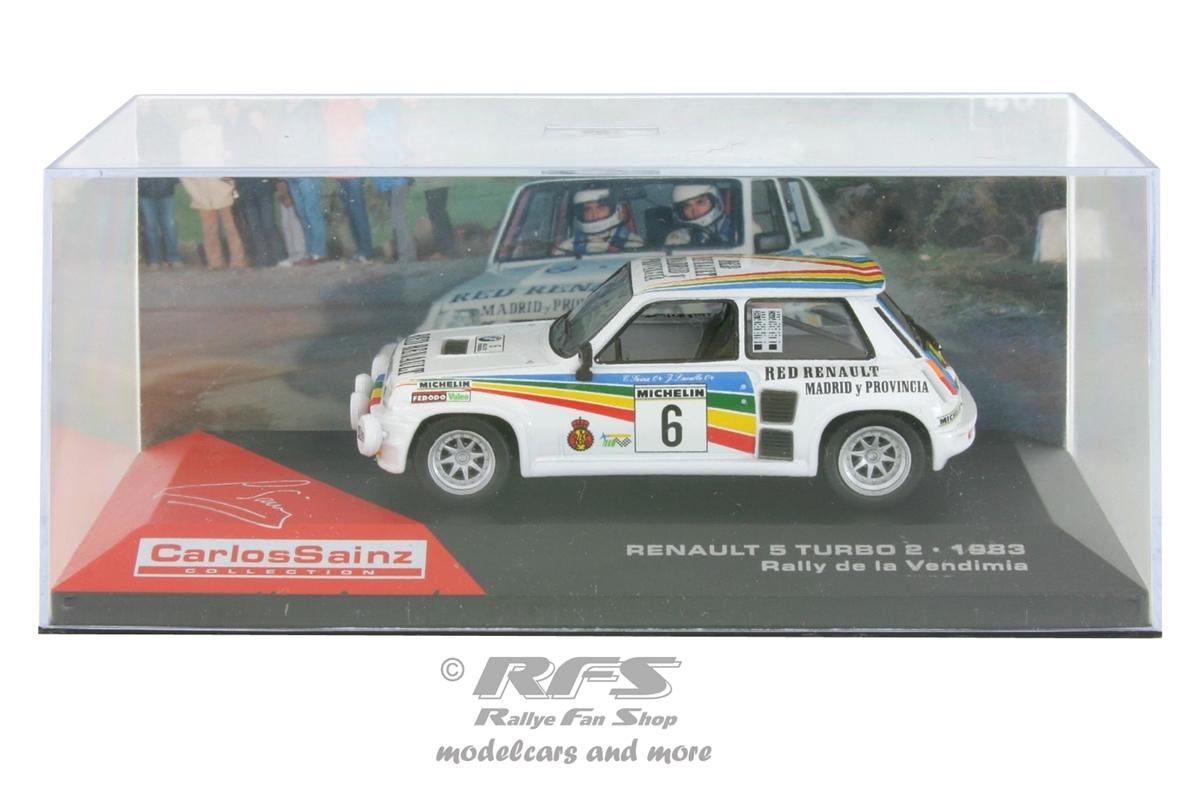 Renault 5 Turbo 2-Rallye de la Vendimia 1983-Sainz 1:43 Al 1983-dlv-06cs
