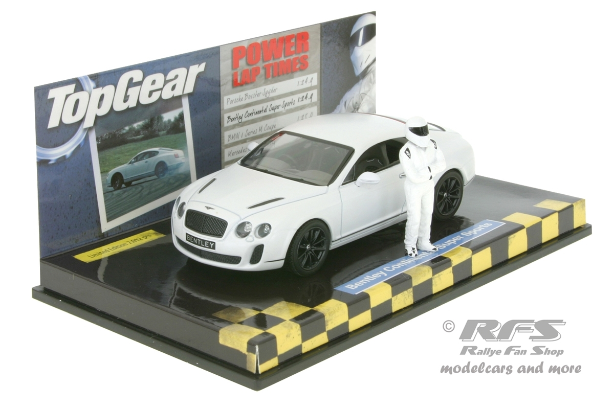 Bentley Continental Super Sports 2009 - Top Gear Power Lap - 1:43 Minichamps