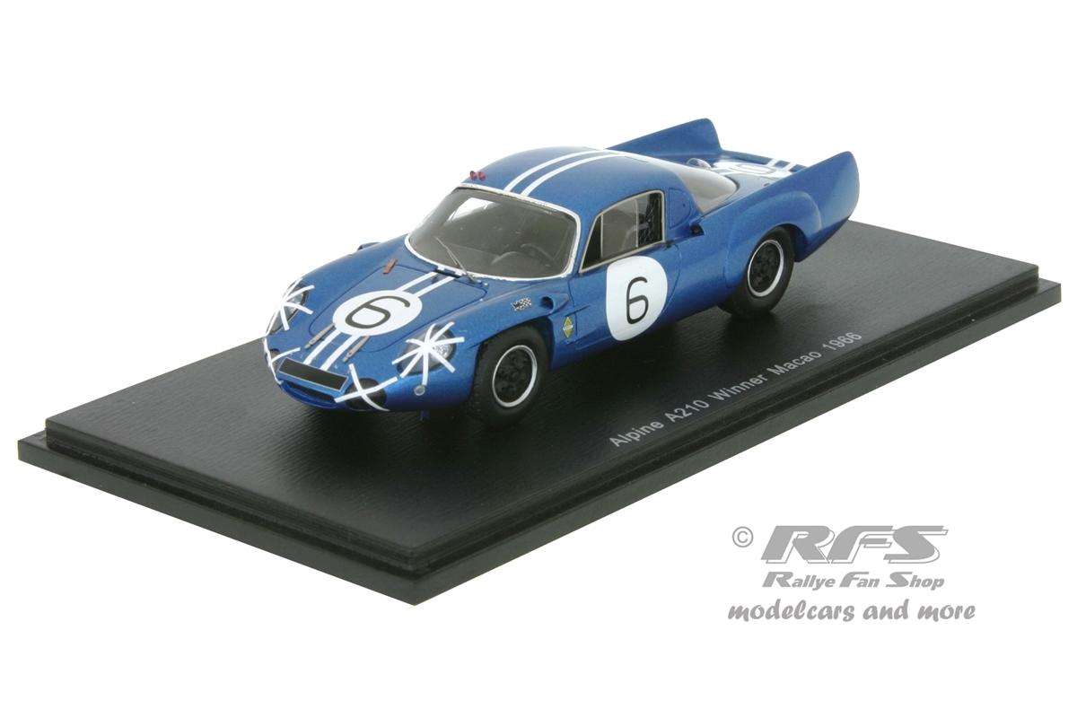 Alpine Renault a210-Mauro Bianchi-Winner gp macao 1966-1:43 Spark 43mc66