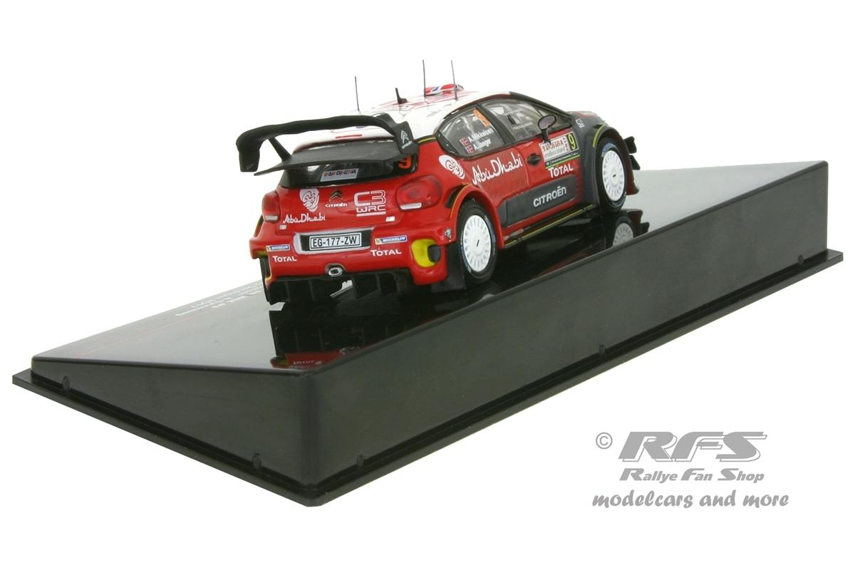Citroen c3 WRC Rally de Cerdeña 2017 Andreas Mikkelsen 1:43 Ixo RAM 640