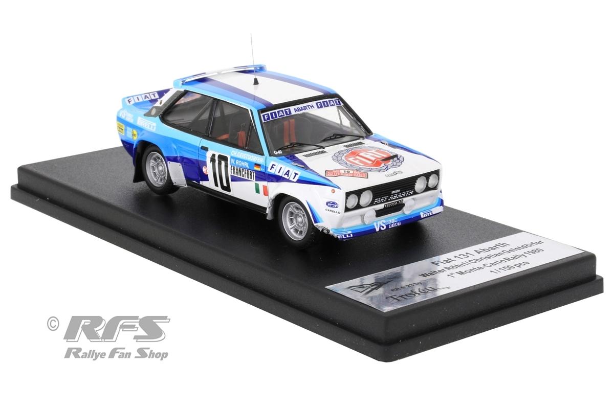 Fiat 131 Abarth - Winner Rallye Monte Carlo 1980Walter Röhrl / Christian Geistdörfer - Crashed Version1:43 - Trofeu RRfr23