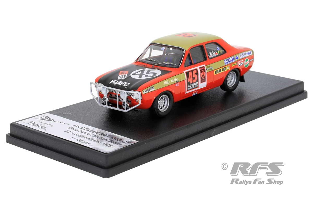 Ford Escort Mk I 1300 GT - Harris / Butler  # 45Daily Mirror London-Mexico World Cup Rally 19701:43 - Trofeu RRmrs 03