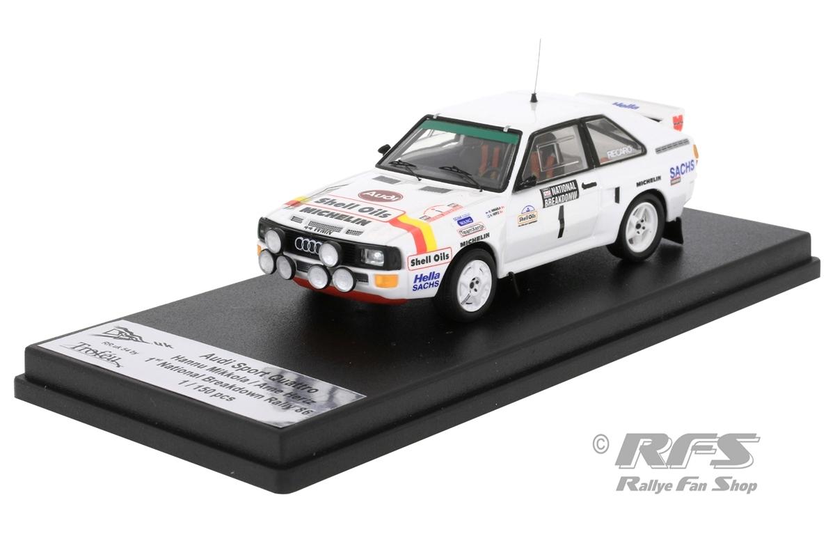 Audi Sport quattro - National Breakdown Rallye 1986Hannu Mikkola / Arne Hertz  -  # 11:43 - Trofeu RRuk54