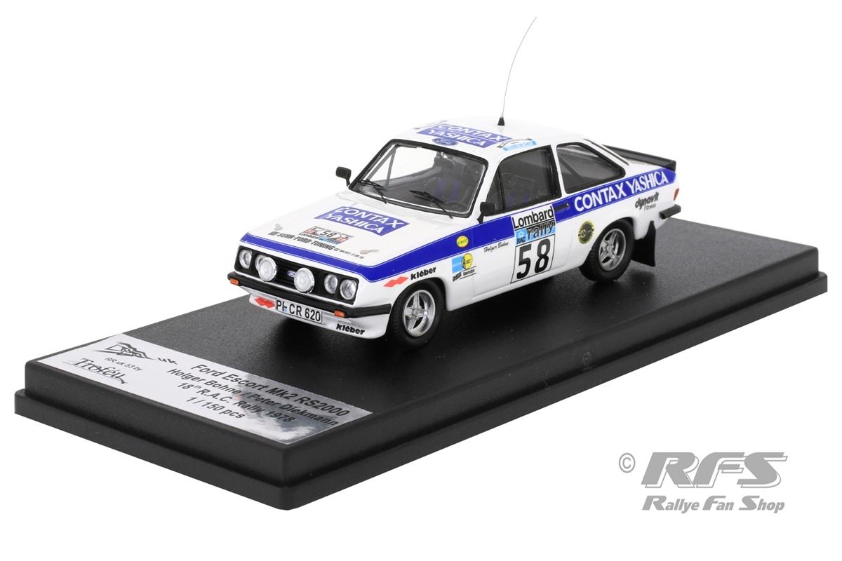 Ford Escort RS 2000 Mk II - RAC Rallye 1978 Holger Bohne / Peter Diekmann  -  # 58 1:43 - Trofeu RRuk53