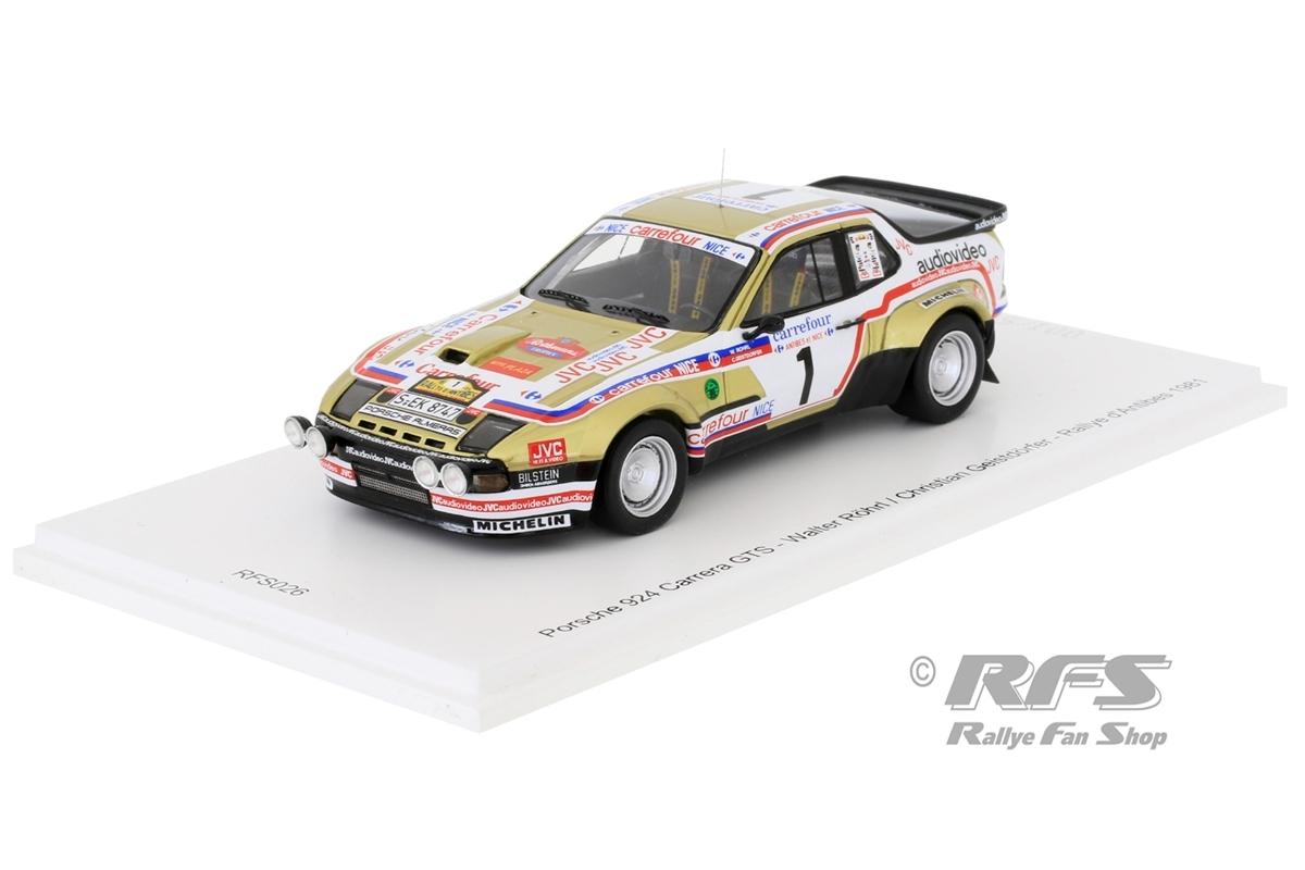 Porsche 924 Carrera GTS - Rallye d Antibes 1981Walter Röhrl / Christian Geistdörfer  -  # 11:43 - Spark RFS 026
