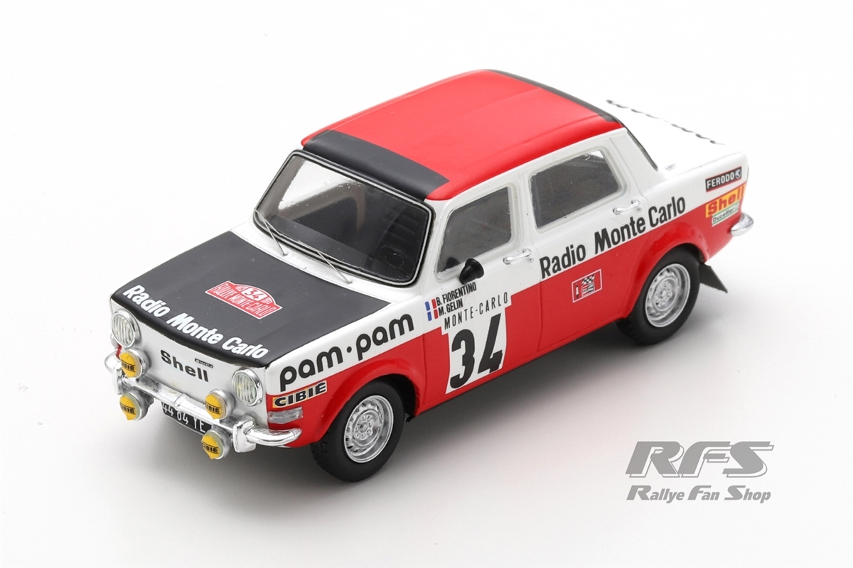 Simca Rallye 2 - Rallye Monte Carlo 1973Bernard Fiorentino / Maurice Gelin  -  # 341:43 - Spark 9457