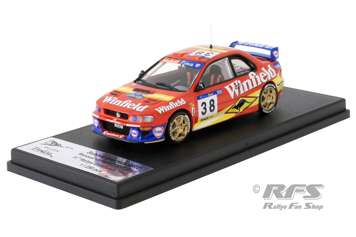 Subaru Impreza WRC - Rallye Catalunya 1998 Renaud Verreydt / Jean-Francois Elst  -  # 38 1:43 - Trofeu RRes02