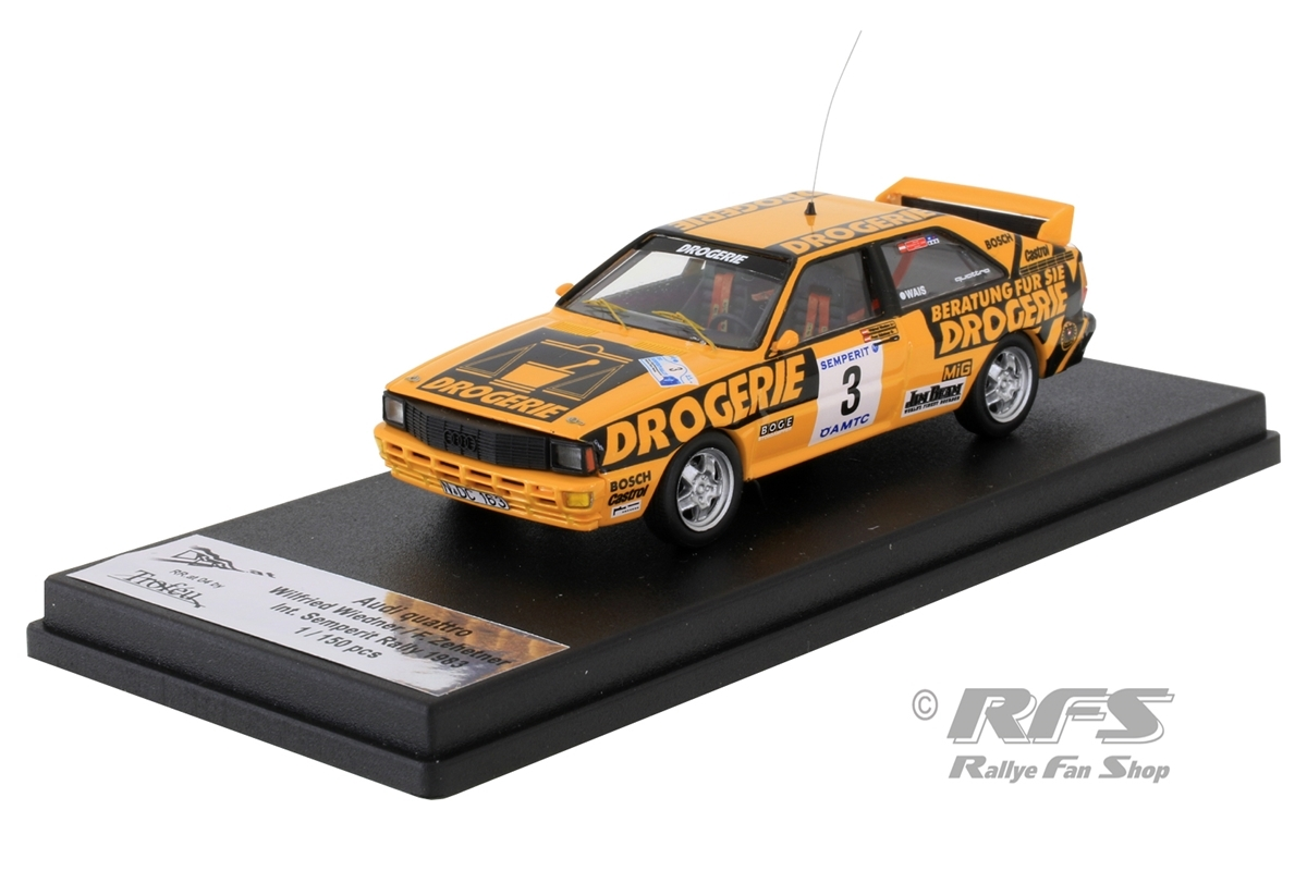 Audi Quattro - Int. Semperit Rallye 1983Wilfried Wiedner / Franz Zehetner  -  # 31:43 - Trofeu RRat04
