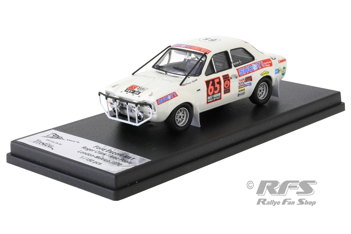 Ford Escort Mk I TC - Roger Clark / Alec Poole  # 65Daily Mirror London-Mexico World Cup Rally 19701:43 - Trofeu RRmrs 04