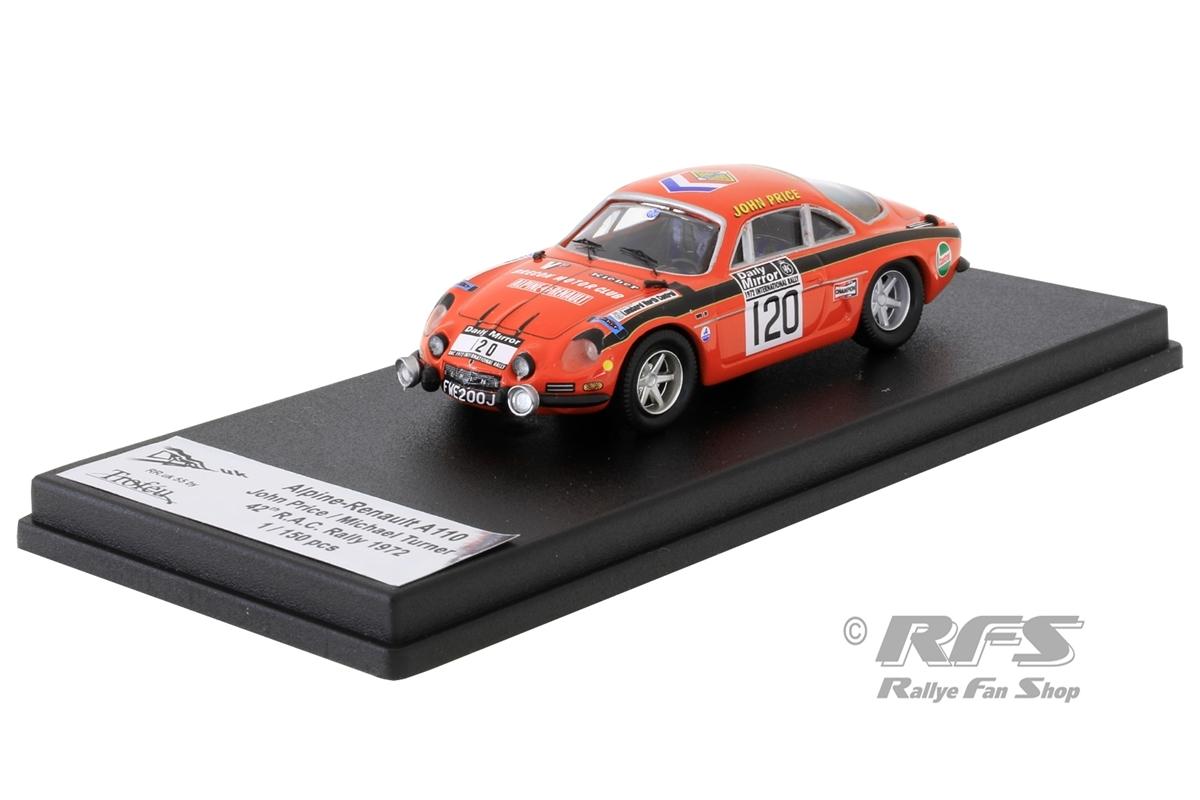 Alpine Renault A110 - RAC Rallye 1972John Price / Michael Turner  -  # 1201:43 - Trofeu RRuk55