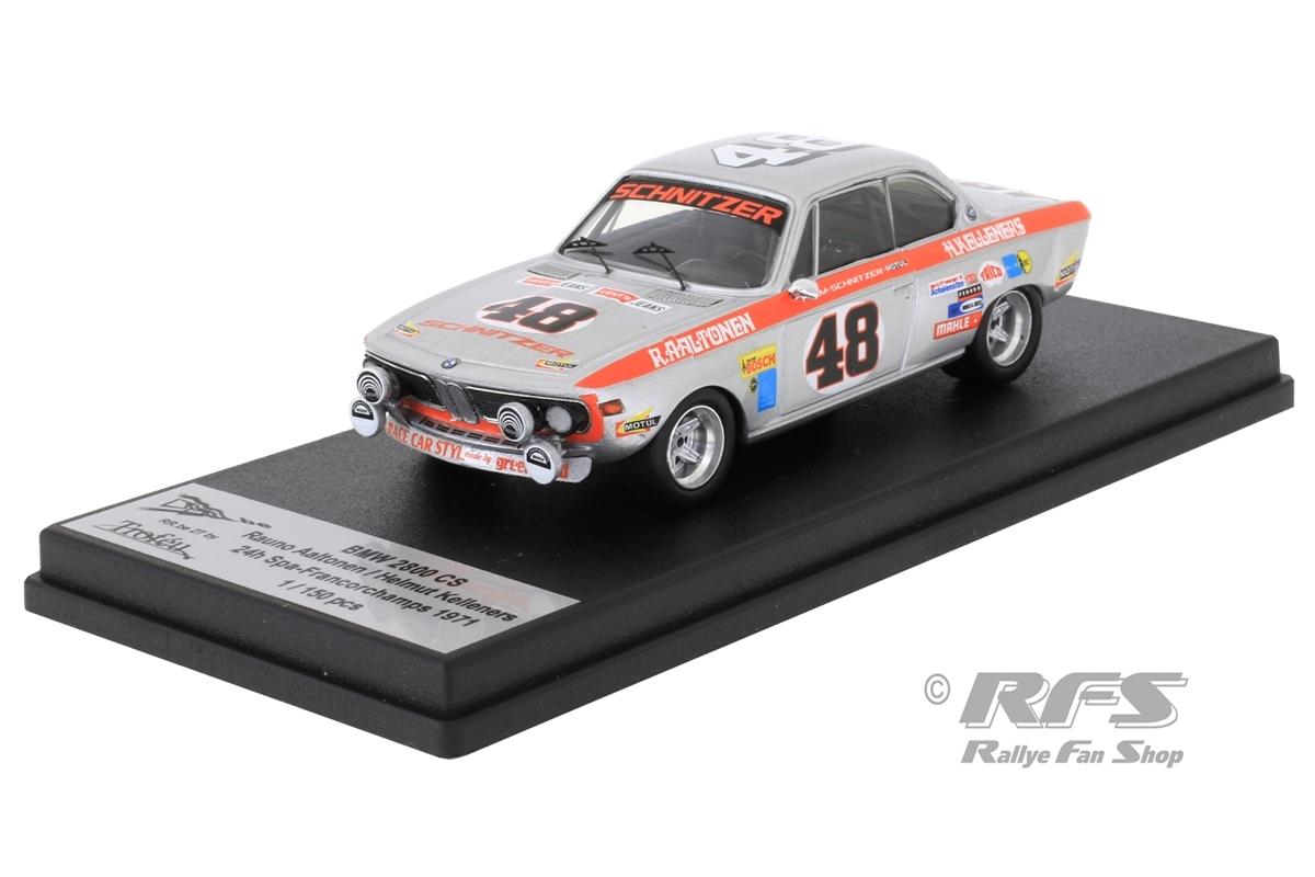 BMW 2800 CS Schnitzer - 24h Spa 1971Rauno Aaltonen / Helmut Kelleners  -  # 481:43 - Trofeu RRbe 27