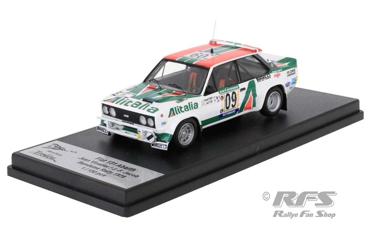 Fiat 131 Abarth - Rallye Bandama 1978Jean Vinatier / Jean-Francois Jacob  -  # 091:43 - Trofeu RRci 04