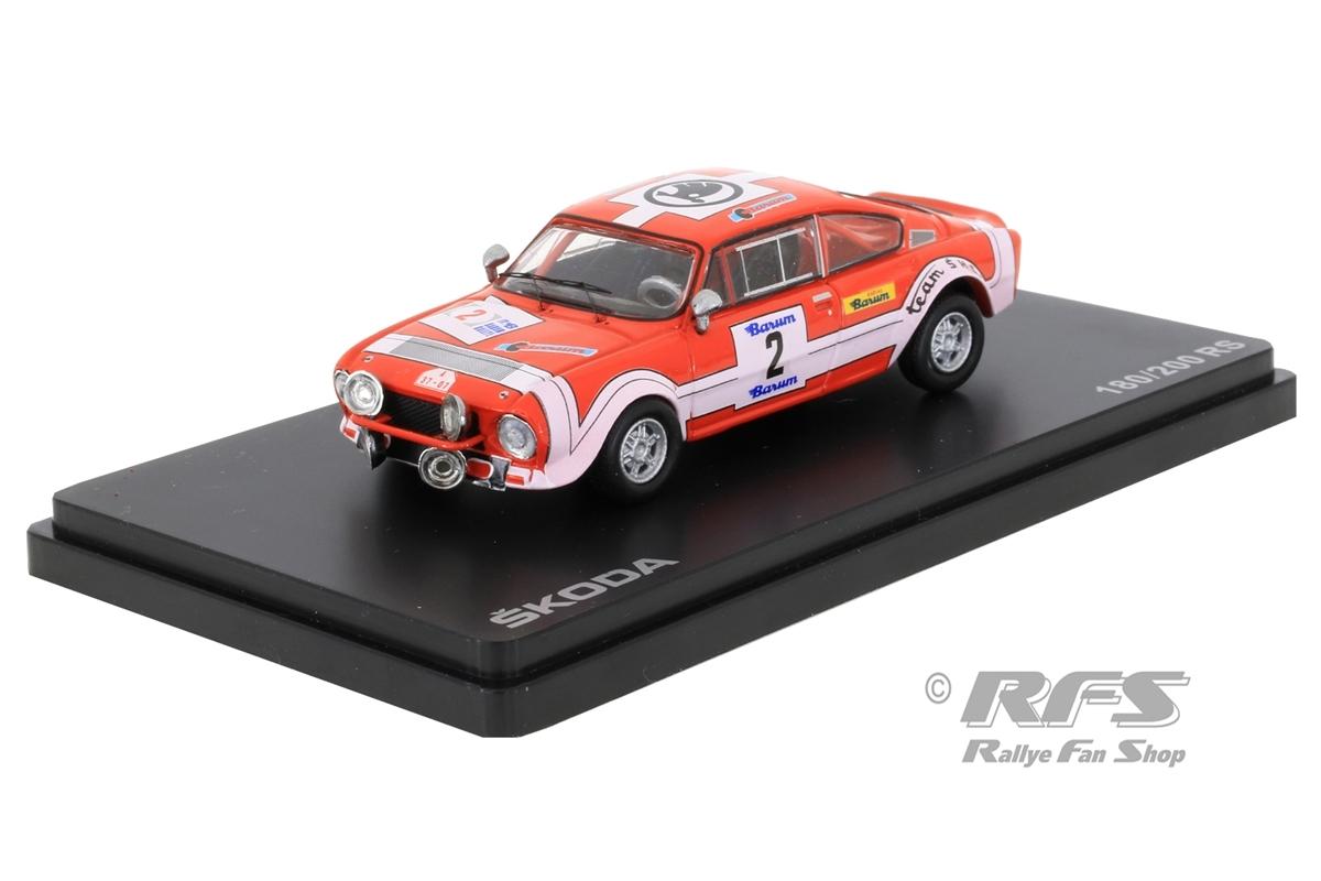 Skoda 200 RS - Barum Rallye 1974Oldrich Horsak / Jiri Motal  -  # 21:43 - Abrex 502TE
