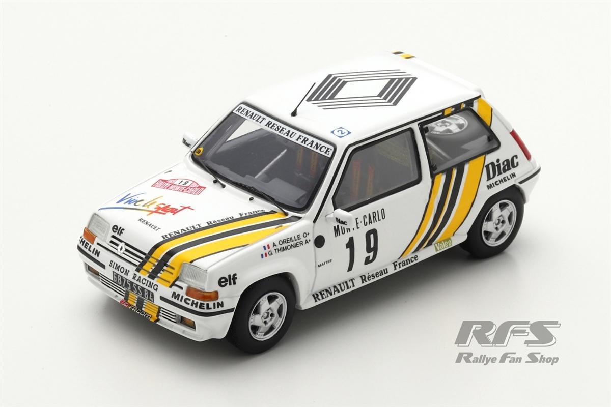 Renault 5 GT Turbo - Rallye Monte Carlo 1989Alain Oreille / Gilles Thimonier  -  # 191:43 - Spark 5565