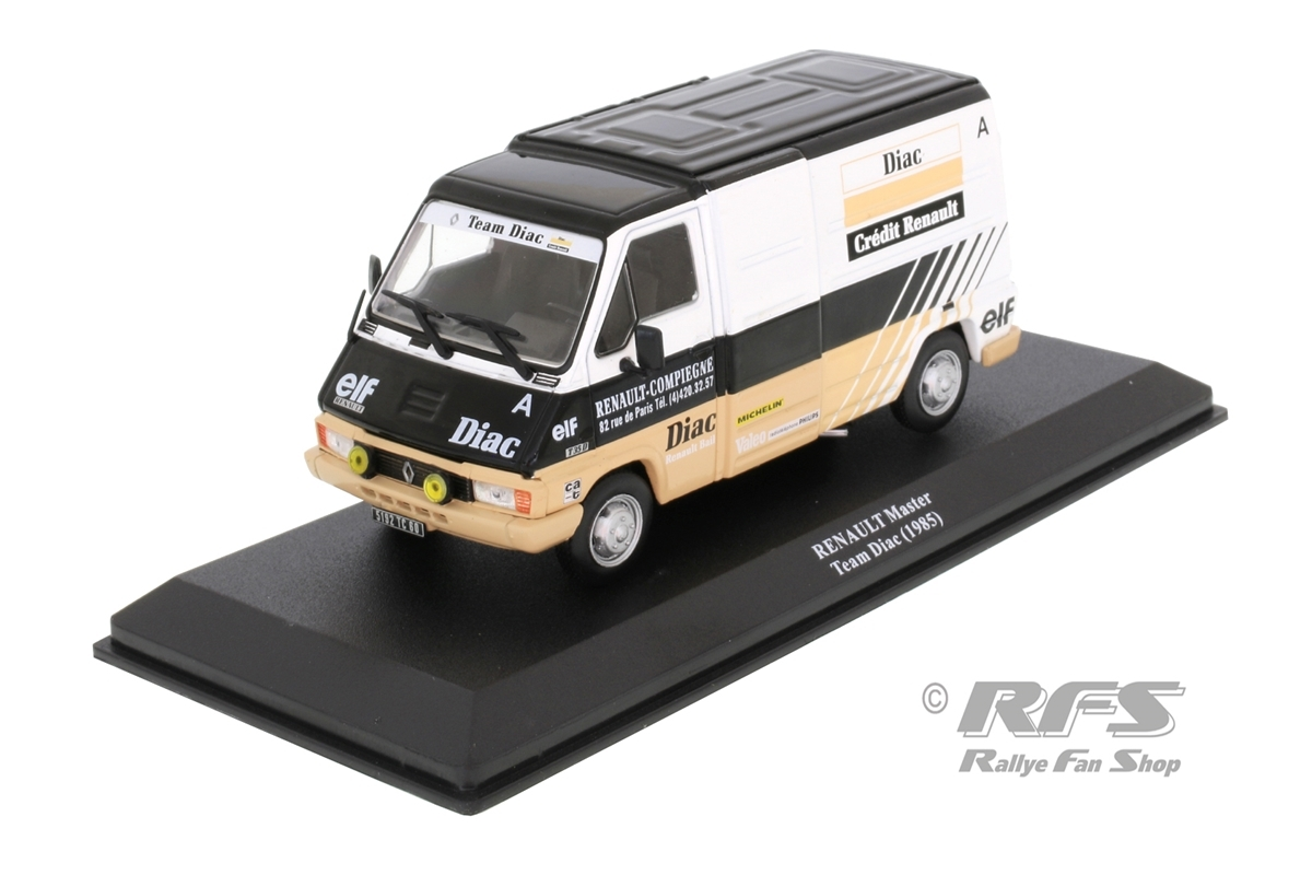 Renault Master Service Transporter - Rallye WM 1985Team DIAC - Jean Ragnotti / Francois Chatriot1:43 - Altaya IXO - AL 1985-ST-016