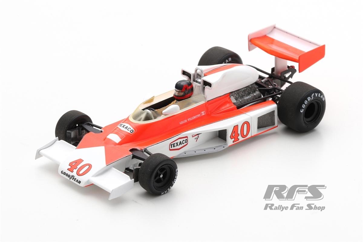 McLaren M23 Ford - Gilles VilleneuveFormel 1 British GP 1977  -  # 401:43 - Spark 5744