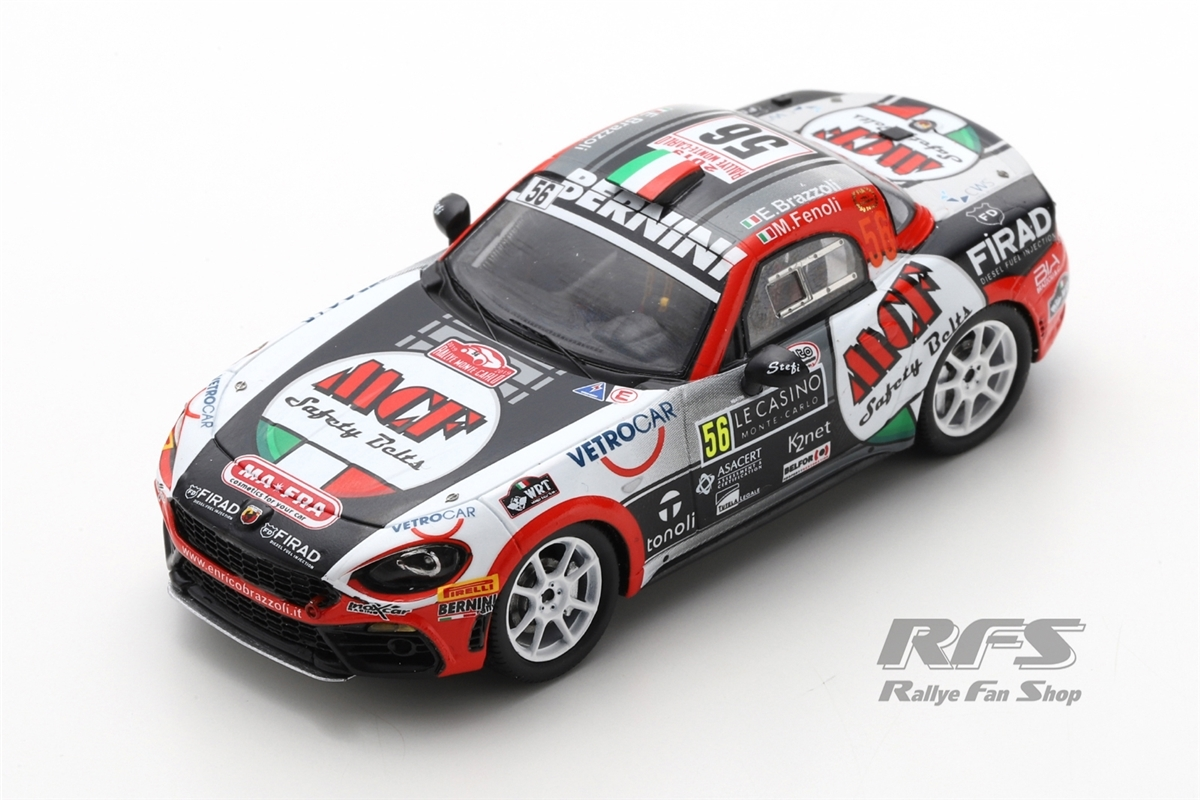 Fiat Abarth 124 Rally RGT - Rallye Monte Carlo 2019Enrico Brazzoli / Manuel Fenoli  -  # 561:43 - Spark 5988
