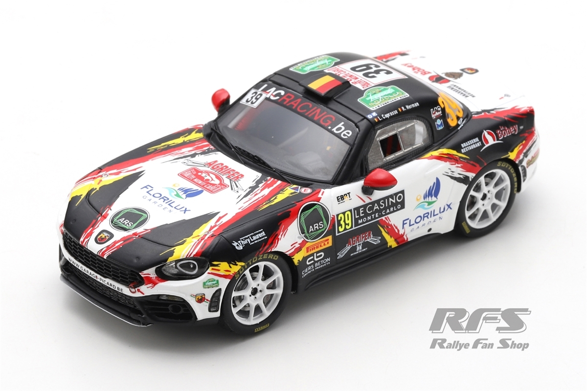 Fiat Abarth 124 Rally RGT - Rallye Monte Carlo 2020Luc Caprasse / Renaud Herman  -  # 391:43 - Spark 6565