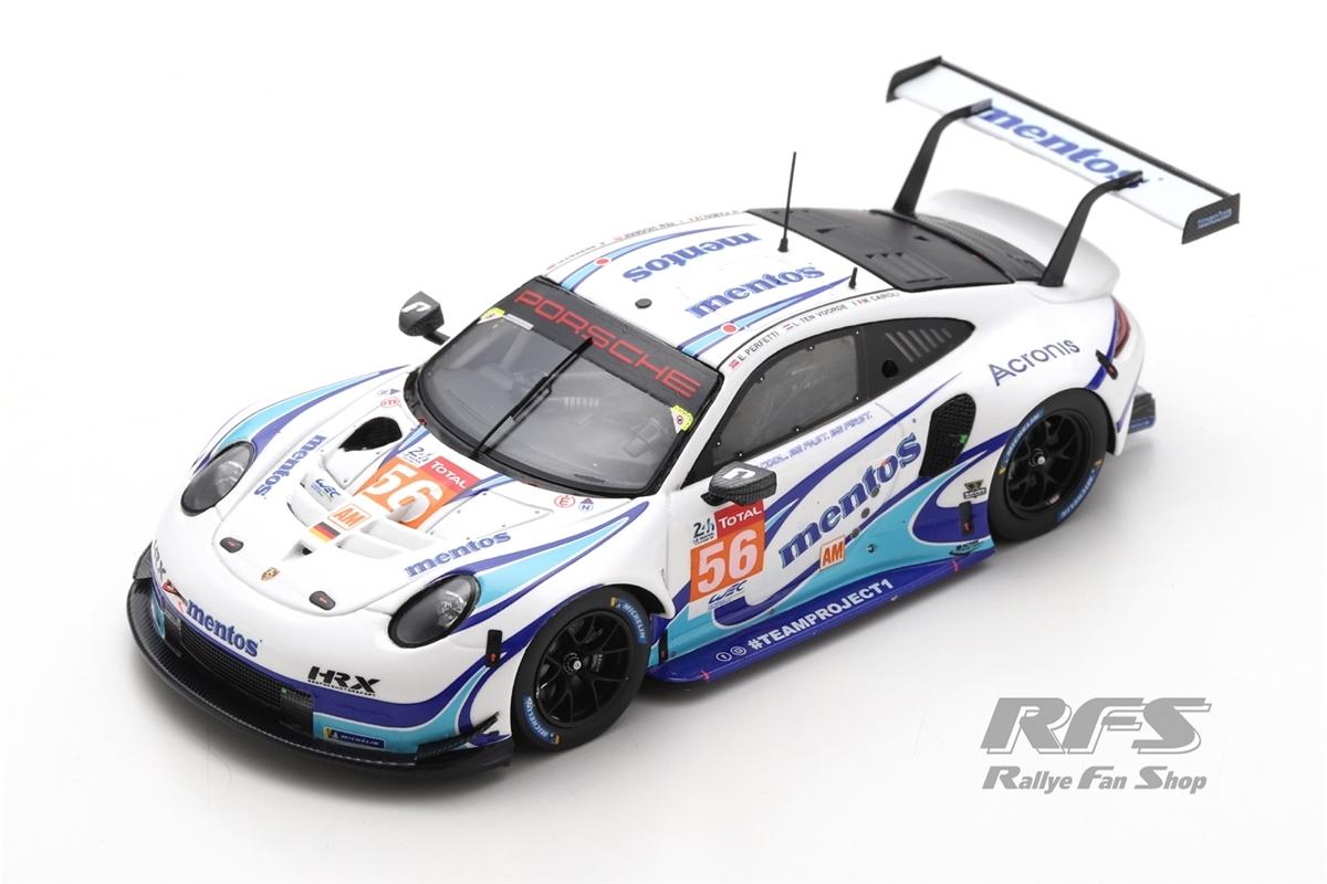 Porsche 911 RSR - 24h Le Mans 2020  # 56Mentos Project 1 - Cairoli / Perfetti / ten Voorde1:43 - Spark 7987
