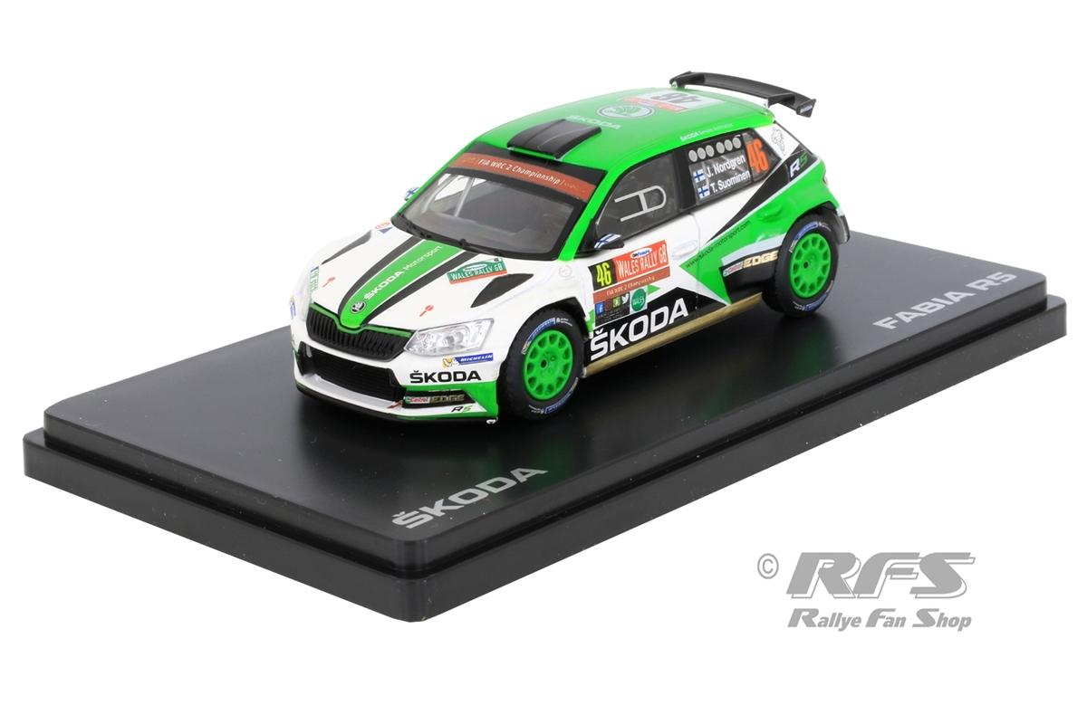 Skoda Fabia R5 - Rallye Wales 2017Juuso Nordgren / Tapio Suominen  -  # 461:43 - Abrex - ABX 605RP