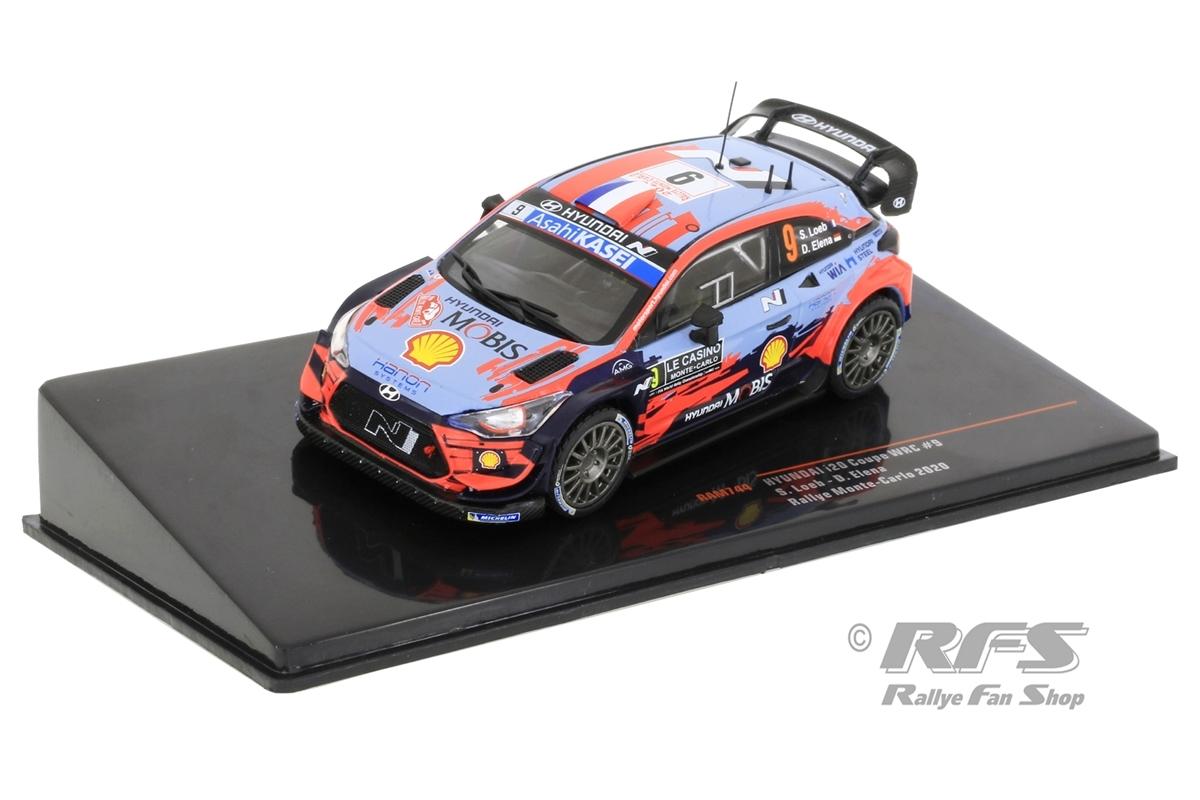 Hyundai i20 Coupe WRC - Rallye Monte Carlo 2020Sebastien Loeb / Daniel Elena  -  # 91:43 - IXO RAM 744