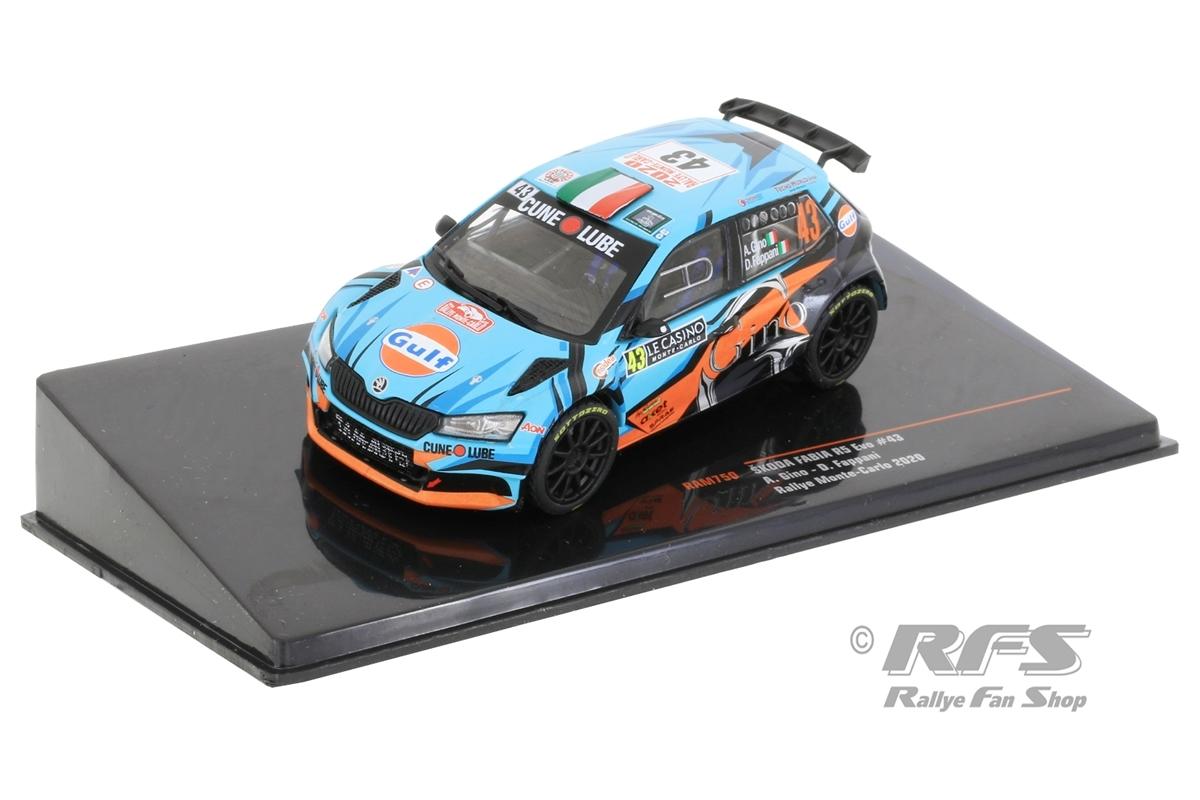 Skoda Fabia R5 - Rallye Monte Carlo 2020 Alessandro Gino / Danilo Fappani  -  # 43 1:43 - IXO RAM 750