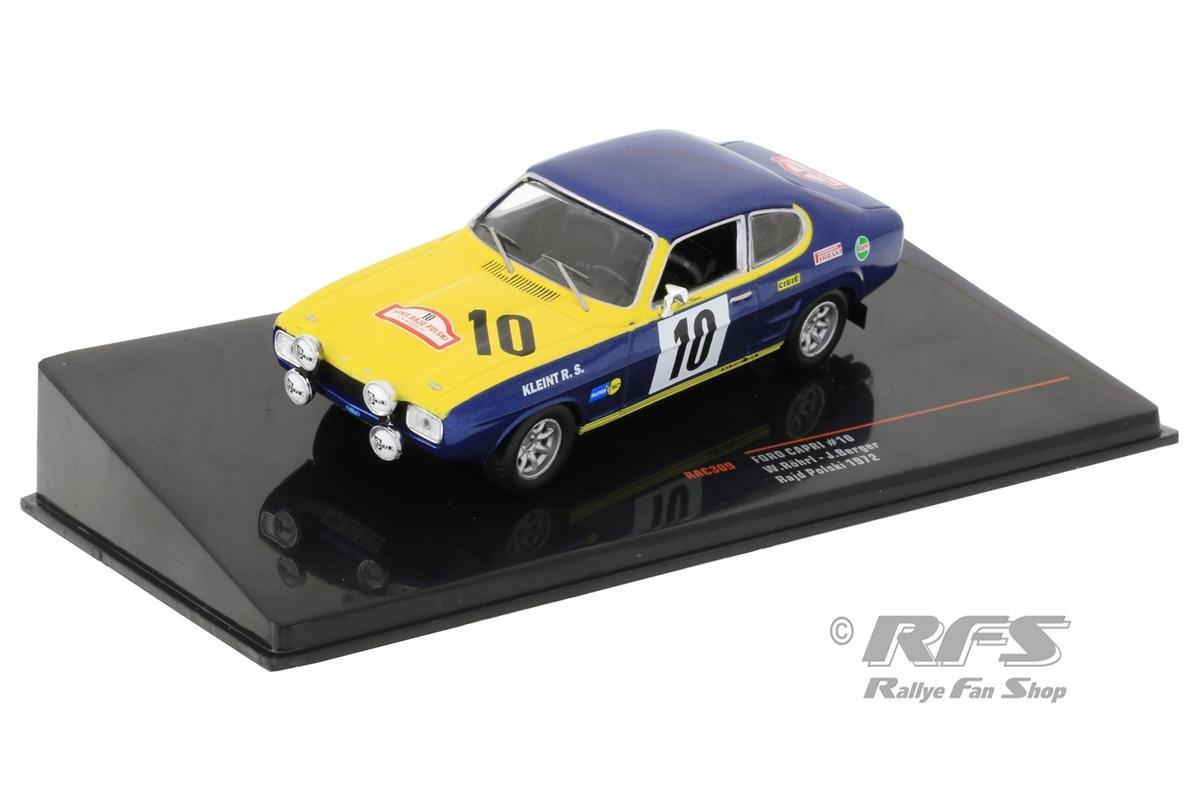 Ford Capri 2600 - Rallye Rajd Polski 1972 Walter Röhrl / Jochen Berger  -  # 10 1:43 - IXO RAC 309