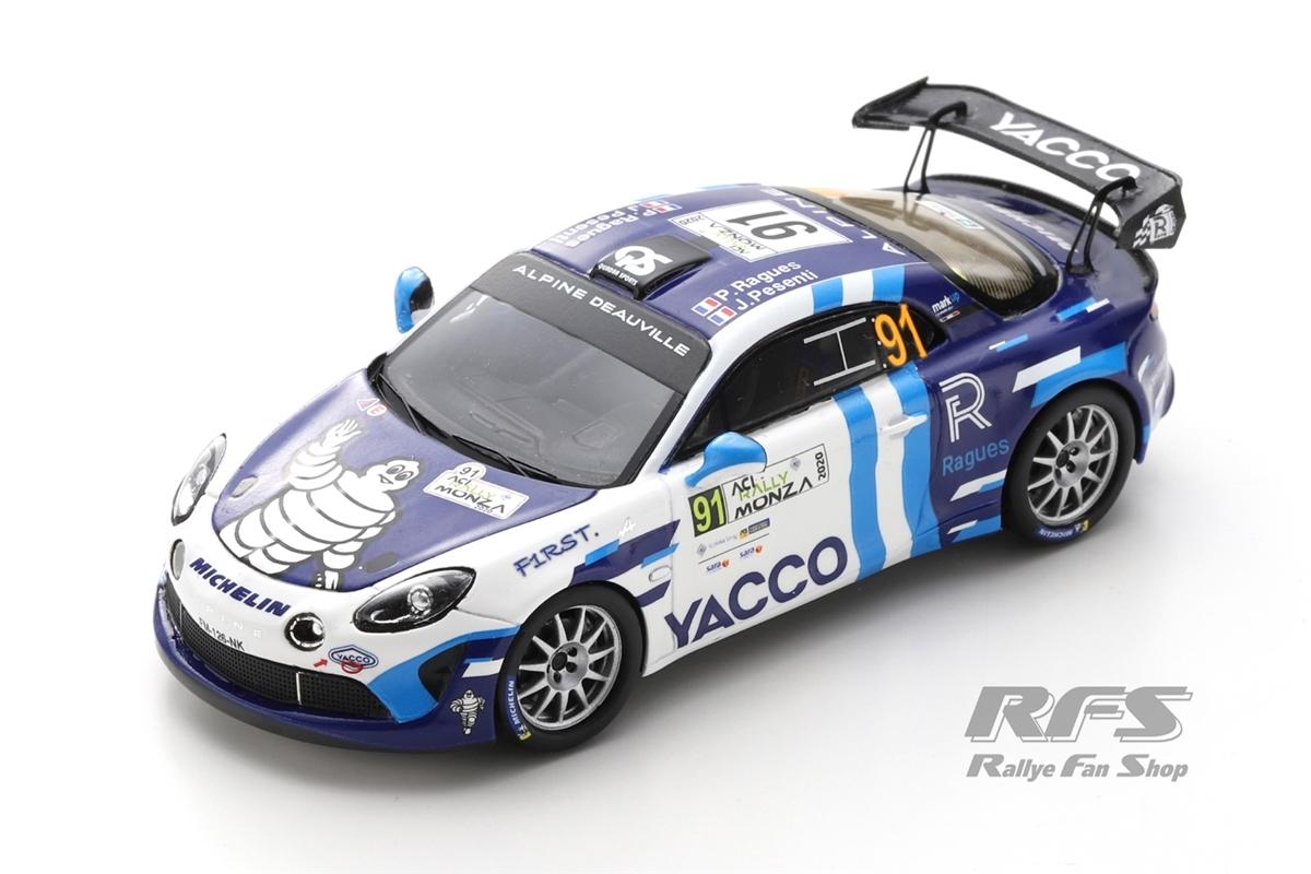 Alpine A110 Rally RGT - Rallye Monza 2020 Pierre Ragues / Julien Pesenti  -  # 91 1:43 - Spark 6573