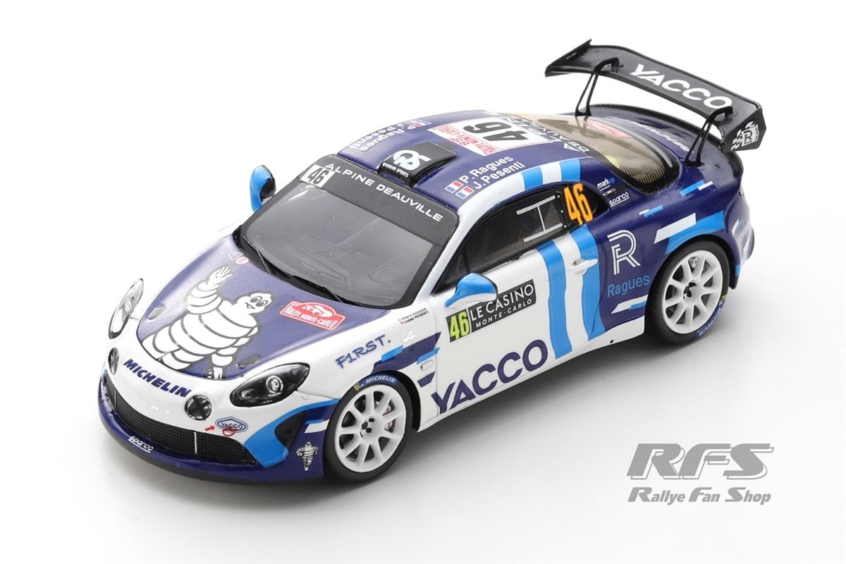 Alpine A110 Rally RGT - Rallye Monte Carlo 2021 Pierre Ragues / Julien Pesenti  -  # 46 1:43 - Spark 6580