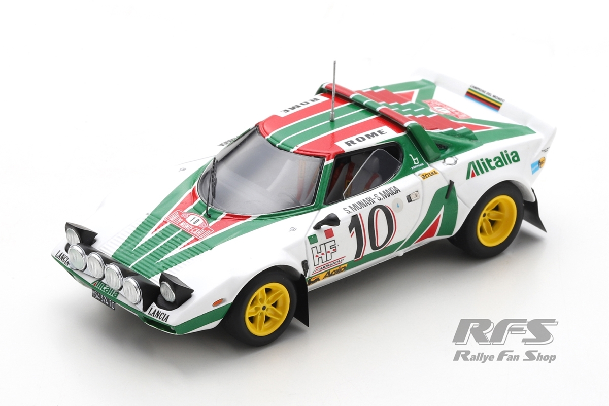 Lancia Stratos HF - Rallye Monte Carlo 1976 Sandro Munari / Silvio Maiga  -  # 10 1:43 - Spark 9082