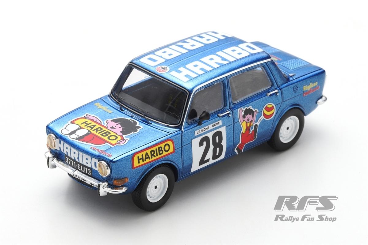 Simca Rallye 2 Haribo - Henri Vuillermoz  # 28 Bergrennen Course de Cote St. Antonin 1975 1:43 - Spark SF 204