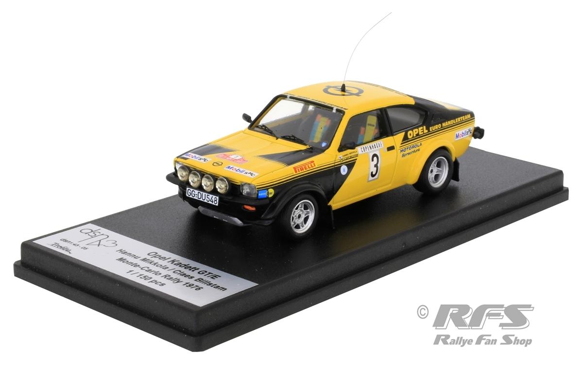 Opel Kadett GT/E - Rallye Monte Carlo 1976 Hannu Mikkola / Claes Billstam  -  # 3 1:43 - Trofeu DSN05
