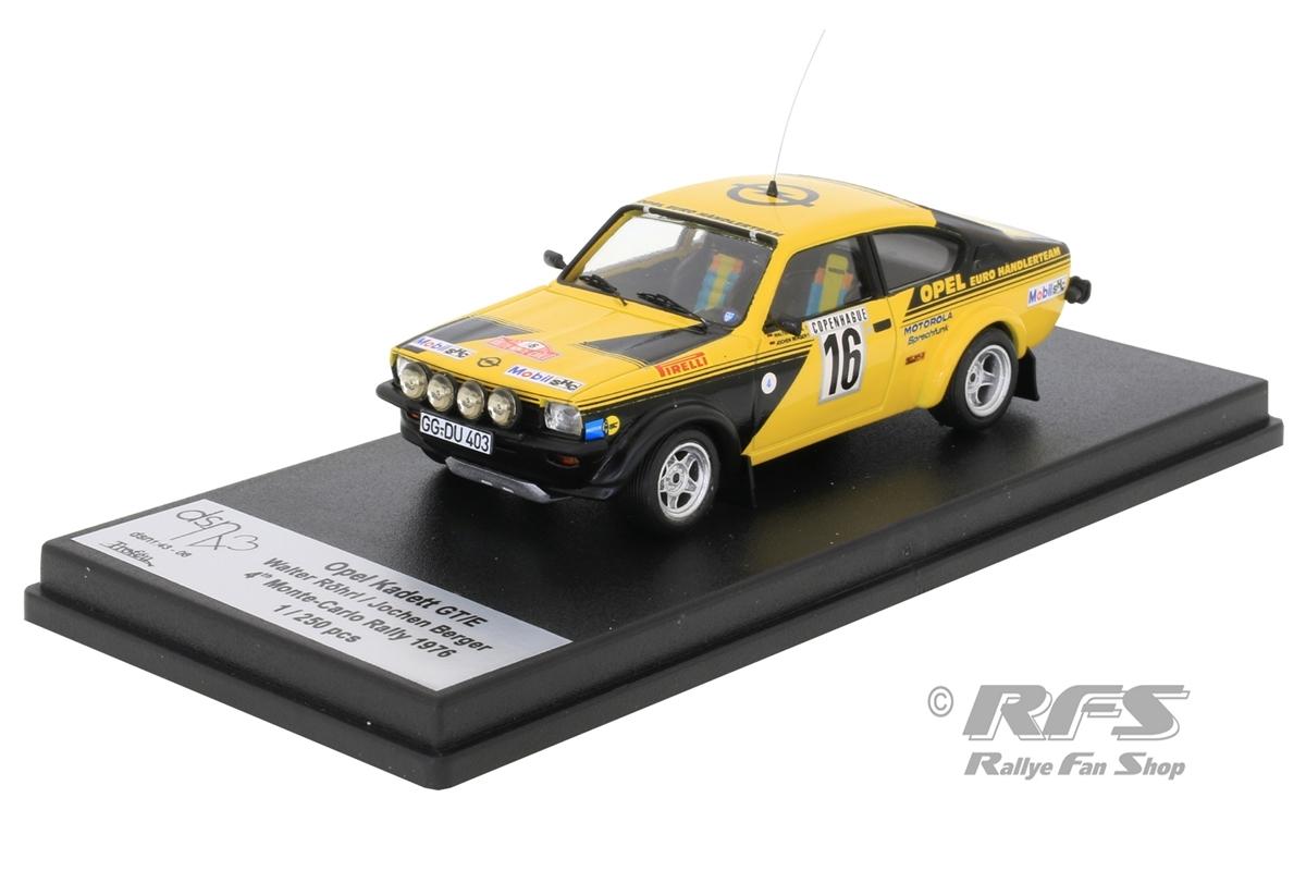 Opel Kadett GT/E - Rallye Monte Carlo 1976 Walter Röhrl / Jochen Berger  -  # 16 1:43 - Trofeu DSN06