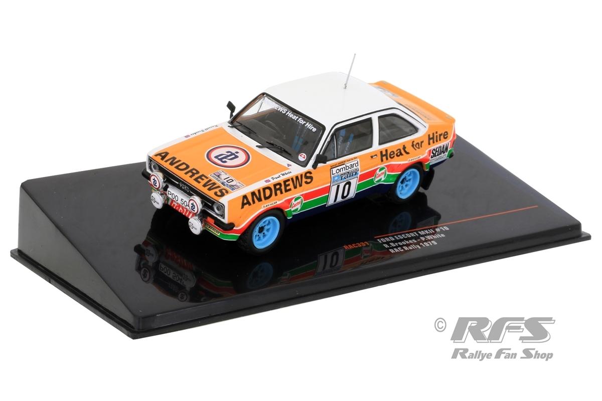 Ford Escort RS 1800 MK II - RAC Rallye 1979 Russell Brookes / Paul White  -  # 10 1:43 - IXO RAC 331