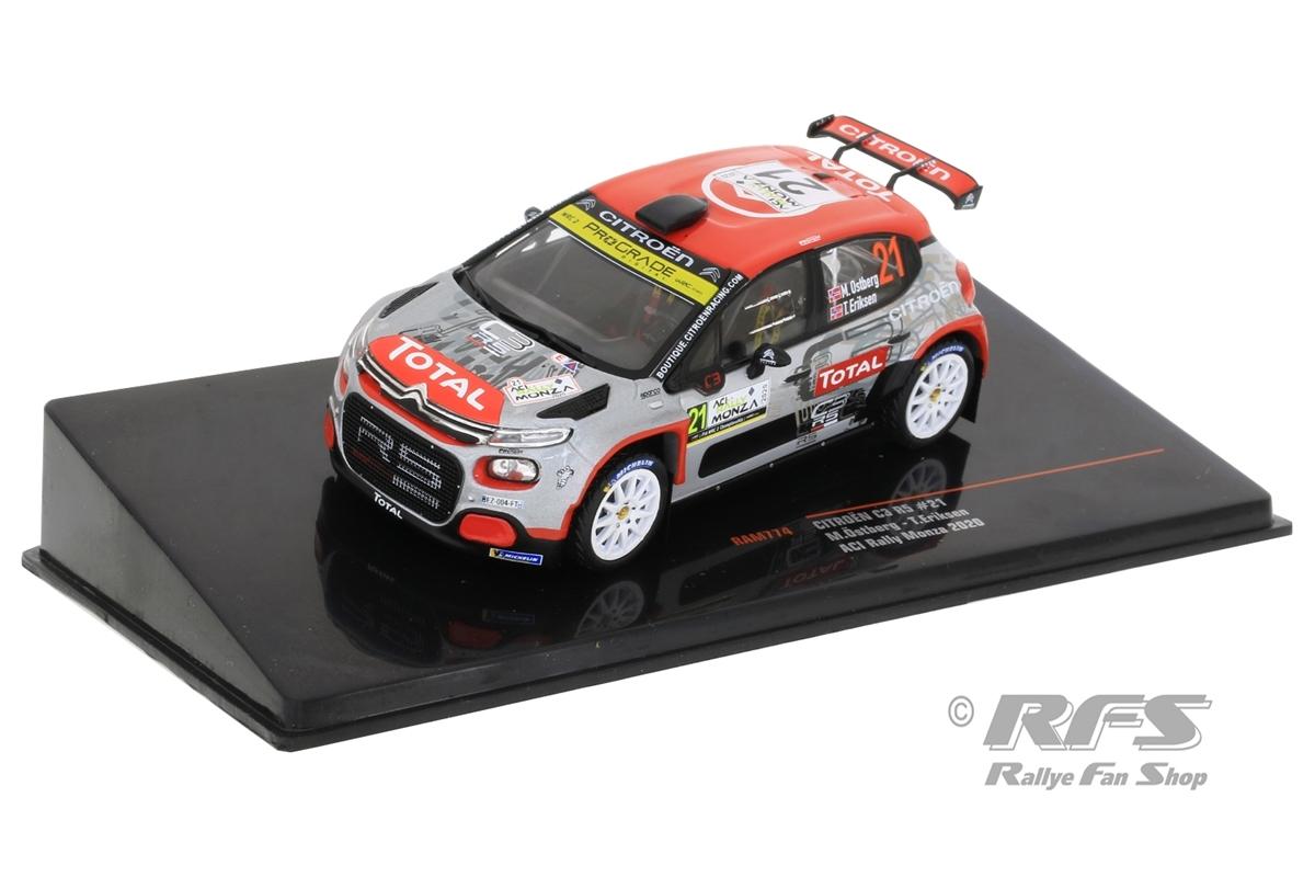 Citroen C3 R5 - Rallye Monza 2020 Mads Östberg / Torstein Eriksen  -  # 21 1:43 - IXO RAM 774