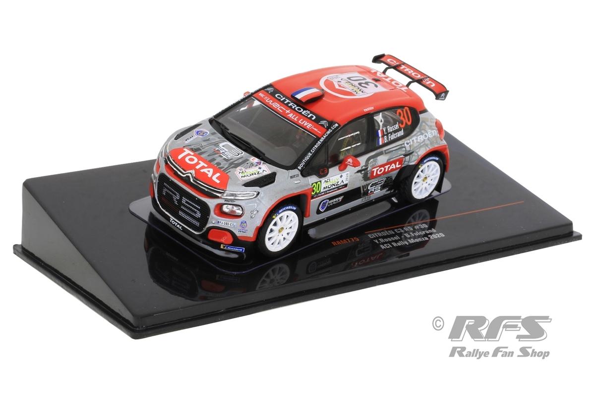 Citroen C3 R5 - Rallye Monza 2020 Yohan Rossel / Benoi Fulcrand  -  # 30 1:43 - IXO RAM 775