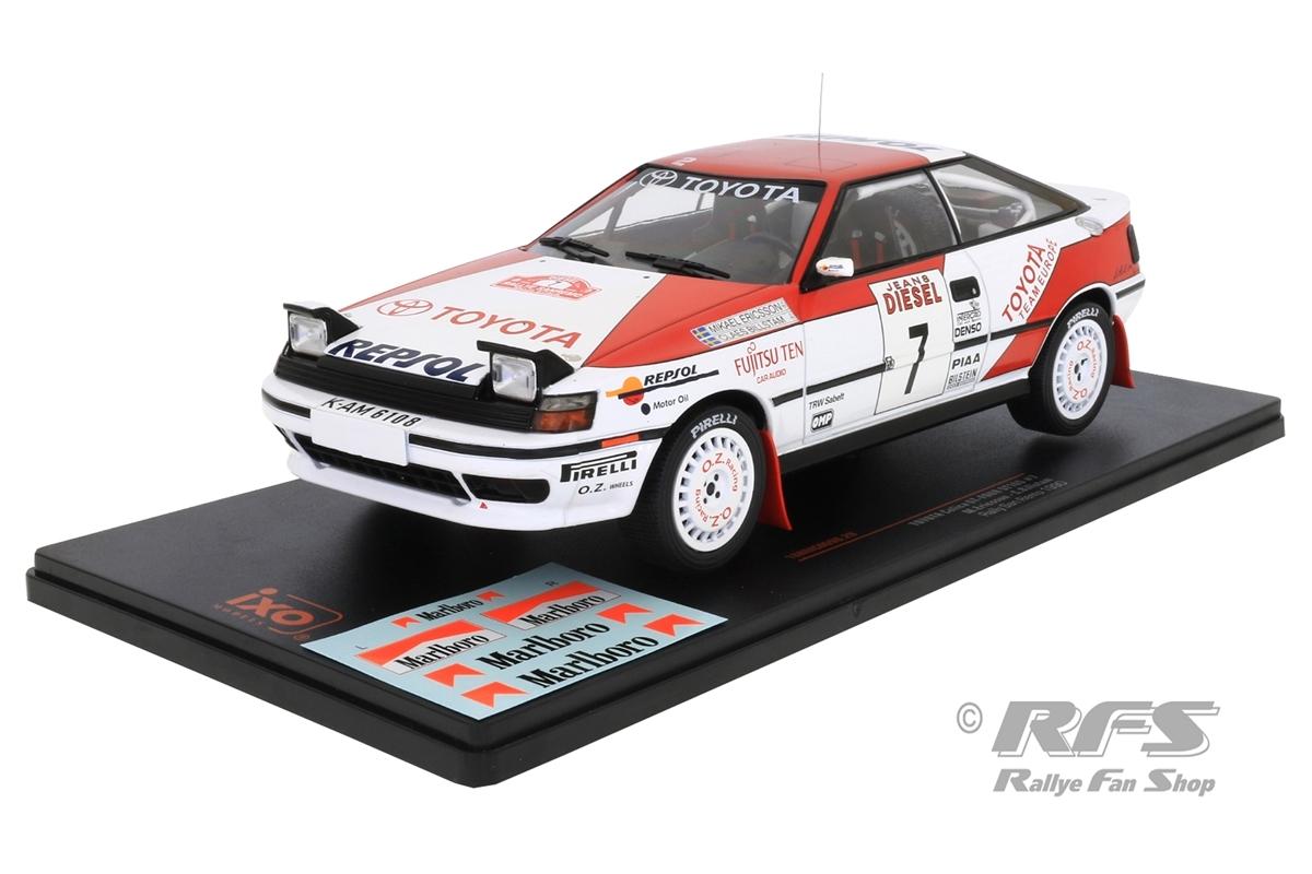 Toyota Celica ST165 - Rallye San Remo 1990 Mikael Ericsson / Claes Billstam  -  # 7 1:18 - IXO 18RMC069B