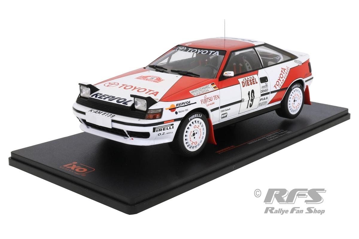 Toyota Celica ST165 - Rallye San Remo 1990 Armin Schwarz / Klaus Wicha  -  # 19 1:18 - IXO 18RMC069C