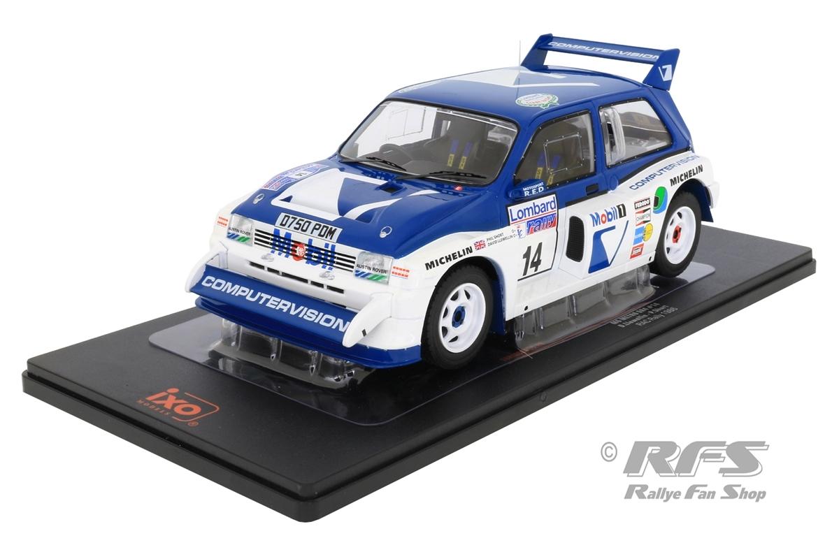 MG Metro 6R4 - Lombard RAC Rallye 1986 David Llewellin / Phil Short  -  # 14 1:18 - IXO 18RMC068C