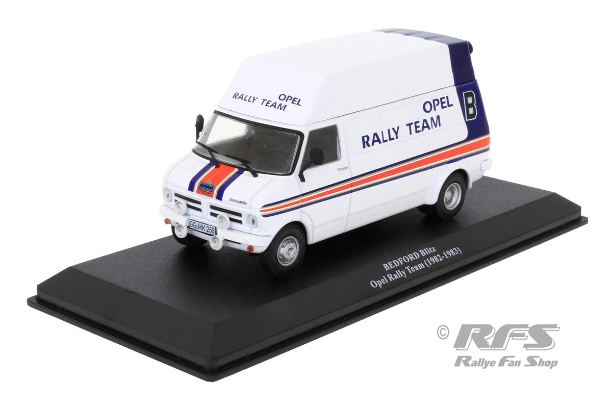 Bedford Blitz Rallye Service Transporter 1982/1983 Rothmans Opel Rally Team - Röhrl / Toivonen 1:43 - Altaya IXO - AL 1982-ST-027