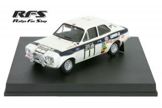 Ford Escort RS 1600 MK I<br/>Clark / Mason<br/>RAC Rally 1973 - 1:43