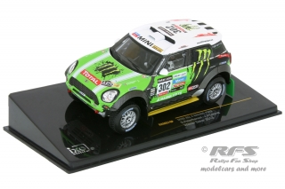 Mini All 4 Racing<br />Peterhansel / Cottret<br />Rallye Dakar 2013 - 1:43