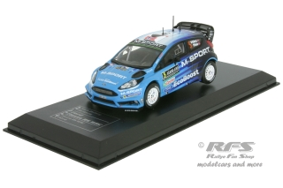 Ford Fiesta RS WRC - Rallye Schweden 2016<br />Mads Östberg / Ola Floene  -  # 5<br />1:43 - IXO DCC Collection 16-S-005
