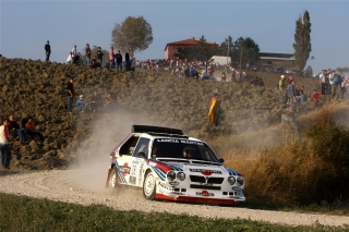 Lancia Delta S4 - MARTINI Racing Design<br />Rallylegend San Marino 2008<br />Poster  -  75 x 50 cm