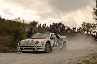 Ford RS 200 - James Avis<br />Rallylegend San Marino 2010<br />Poster  -  75 x 50 cm