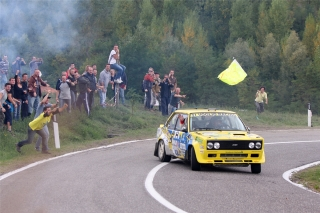 Fiat 131 Abarth - Paolo Diana<br />Rallylegend San Marino 2013<br />Poster  -  75 x 50 cm
